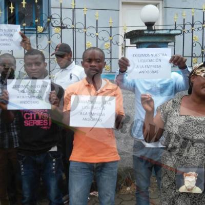 Empleados de ANDOBRAS SL -propiedad de Mercedes Eyegue Obiang-, exigen sus liquidaciones