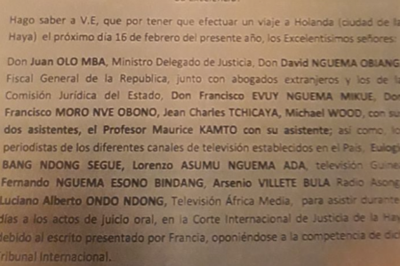 Comienza en la Corte Internacional de Justicia el juicio oral entre Francia y Guinea Ecuatorial