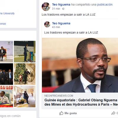 Nguema Obiang Mangue acusa a su hermanastro, Mbega Obiang Lima de ser un traidor