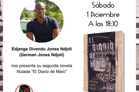 """Edjanga Ndjoli presentará en la librería United Minds su libro """"Diario de Marc"""""""