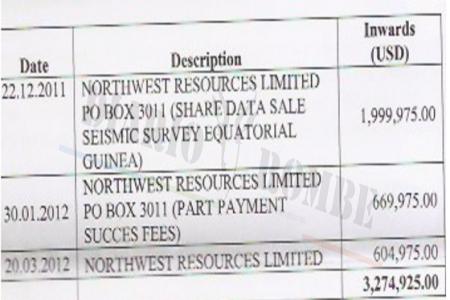 La empresa australiana Northwest Resources pagó más de 3 millones de dólares en comisiones a Crispin Edu