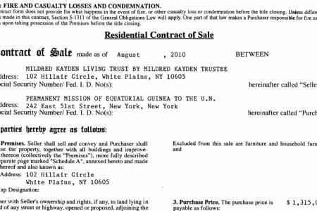 En 2010 el embajador Anatolio Ndong Mba infló las cifras de adquisición de dos residencias del Estado en New York