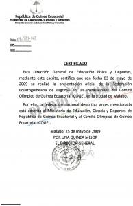 """""""Golpe de Estado"""" encubierto en la Federación de Esgrima de Guinea Ecuatorial"""