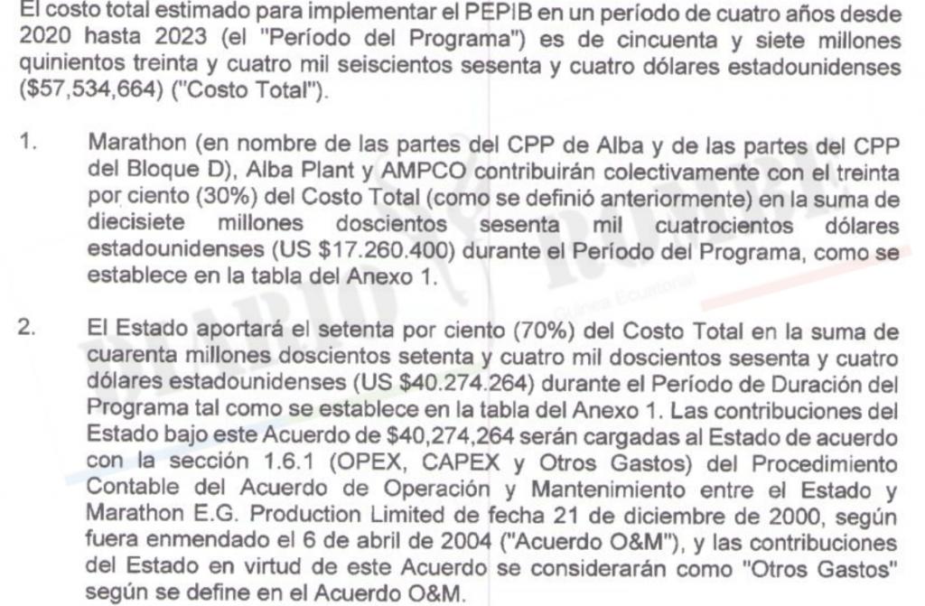 El gobierno y las petroleras acuerdan abonar  .534.664 para financiar el PEPIB
