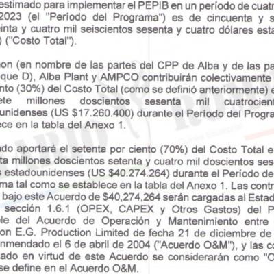 El gobierno y las petroleras acuerdan abonar  $57.534.664 para financiar el PEPIB