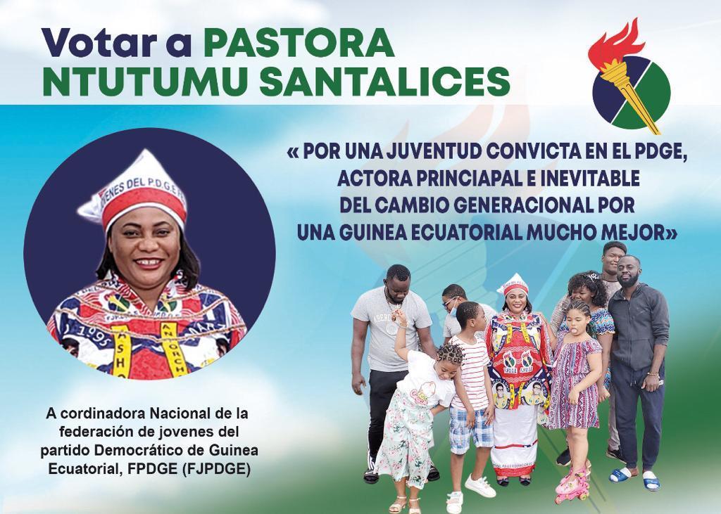 Pastora Ntutumu Santalices aboga por propulsar a una juventud convicta desde el PDGE